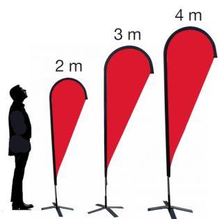 Voile goutte 2m, 3 m et 4m